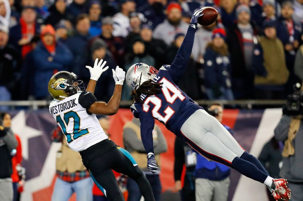 Stephon Gilmore led the league in interceptions this year.